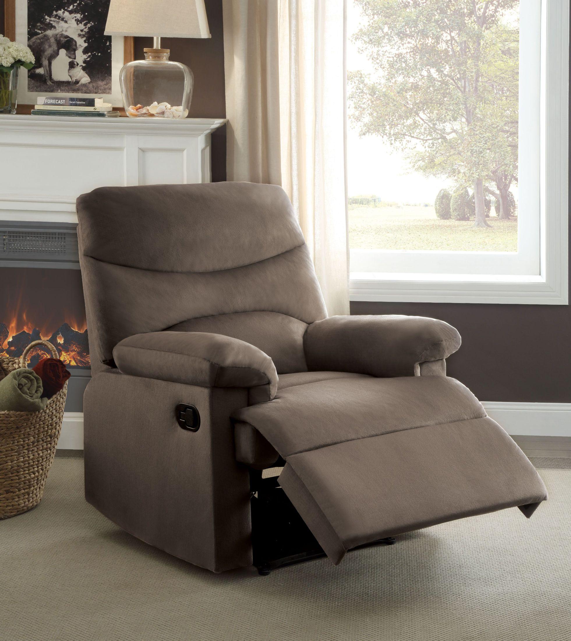 Ashley Furniture Arcadia: Arcadia Light Brown Woven Recliner