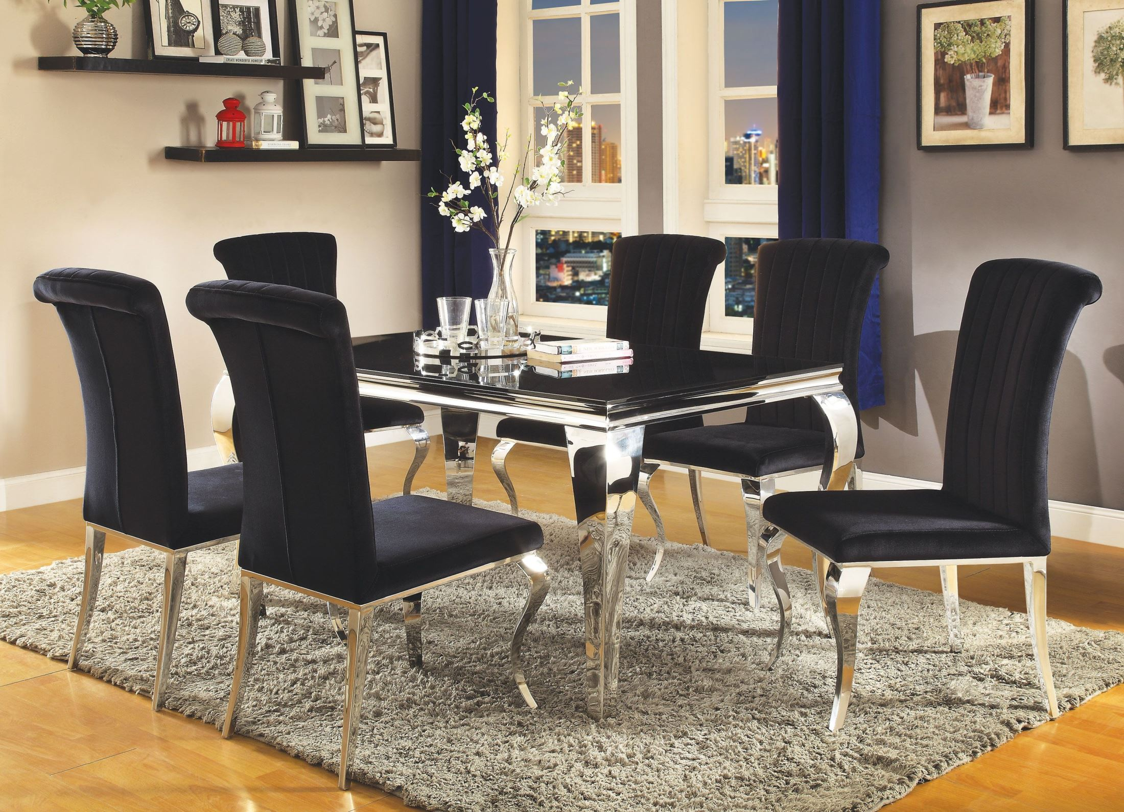 Carone stainless steel dining room setmedia image