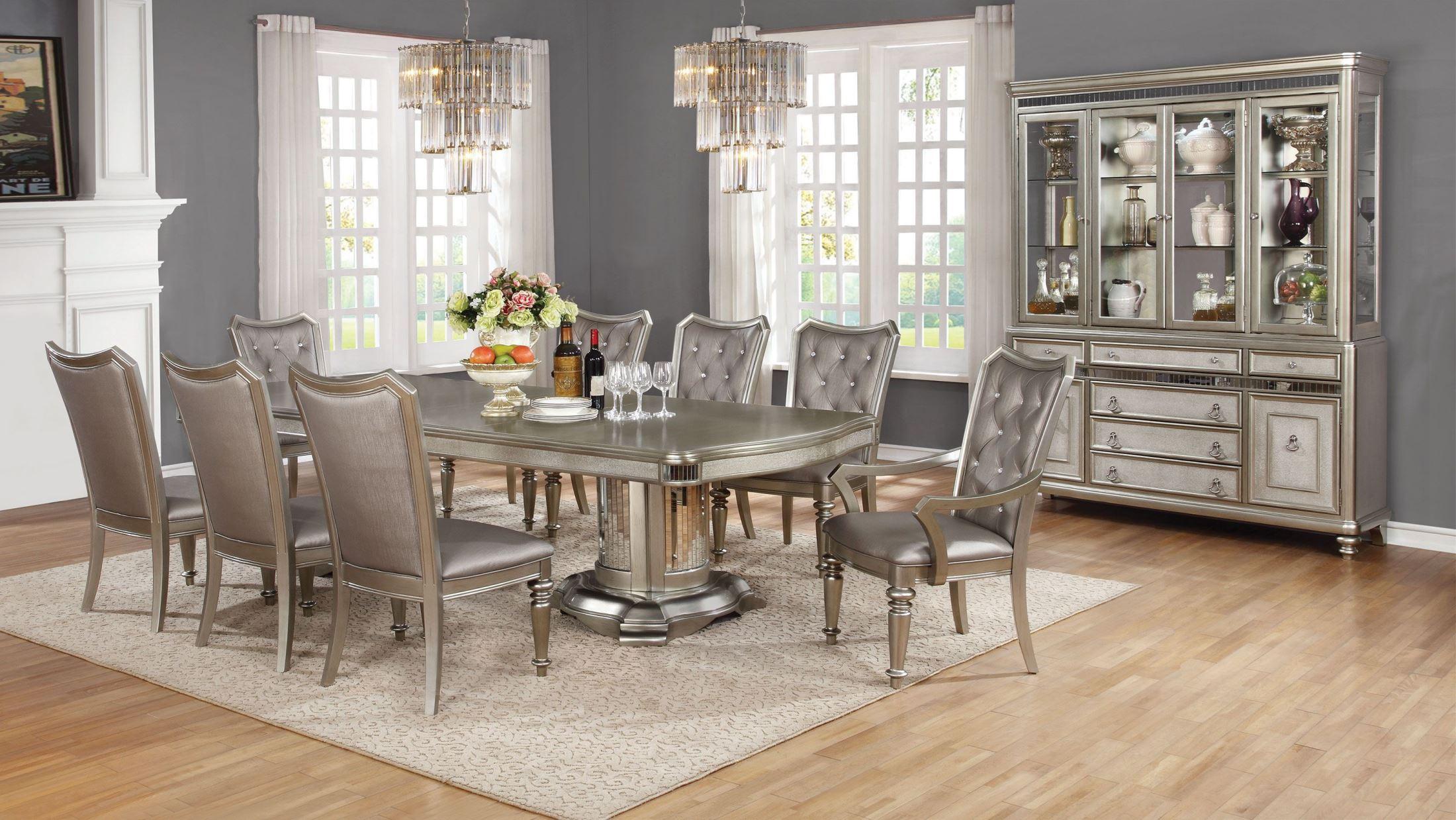 Danette Metallic Platinum Dining Room SetMedia Image