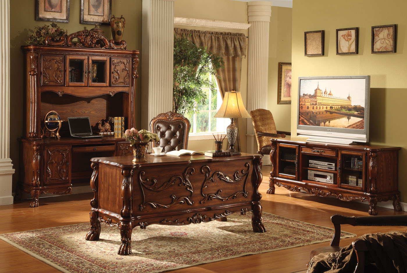 Shop Now For The Acme Dresden Office Desk And Bookcase Set Accuweather Shop