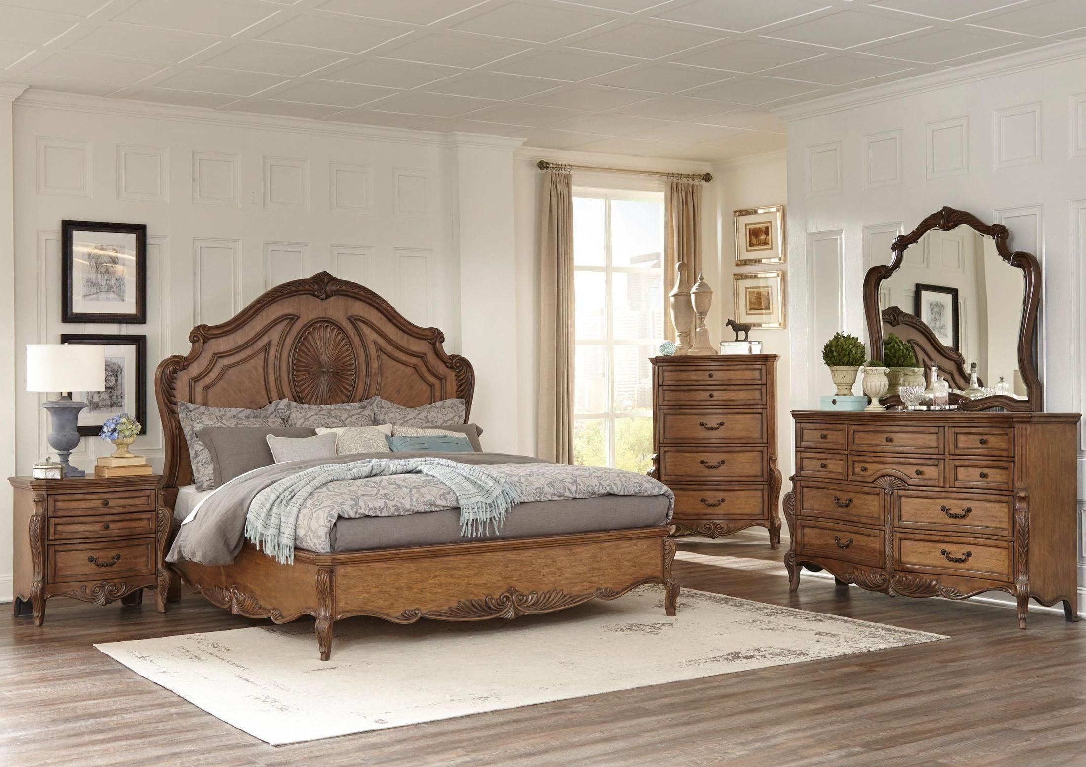 Moorewood Park Pecan Panel Bedroom Set