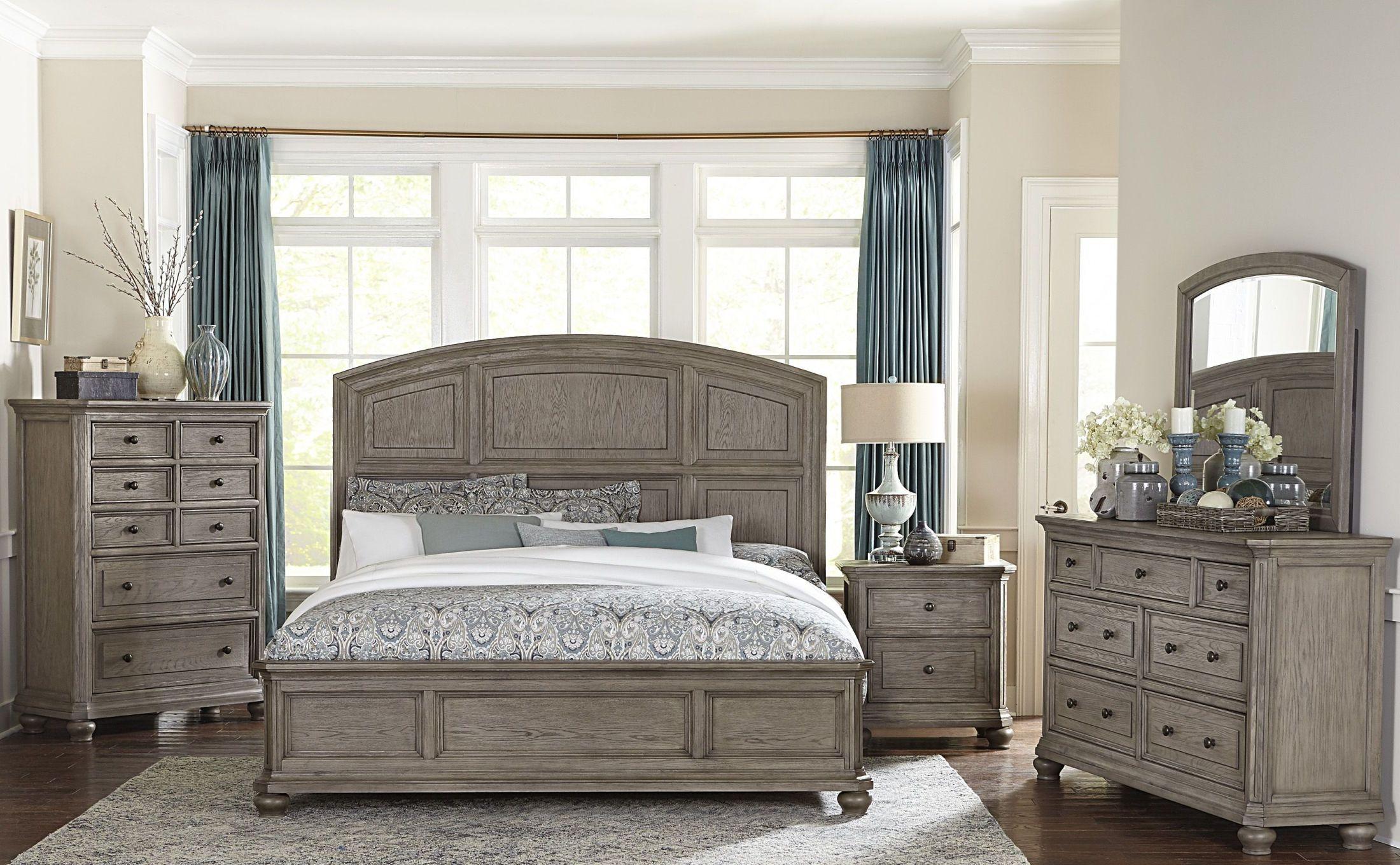 Grey Vintage Bedroom: Homelegance Lavonia Wire Brushed Gray Platform Bedroom Set