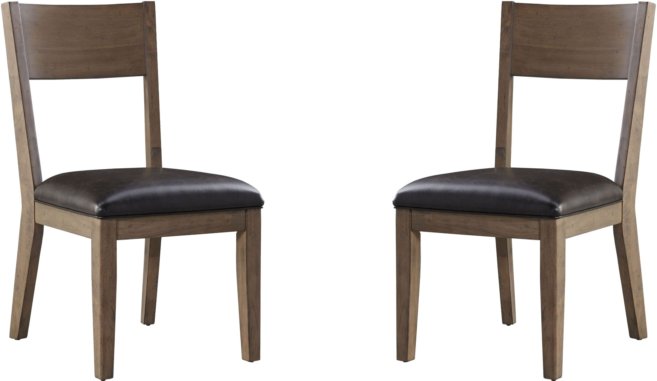 Distressed White Oak Dining Chairs: Standard Furniture Sierra Distressed Oil Oak Side Chair