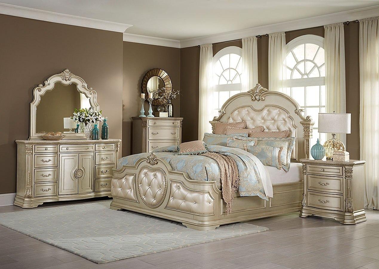 Antoinetta Panel Bedroom Set (Champagne)