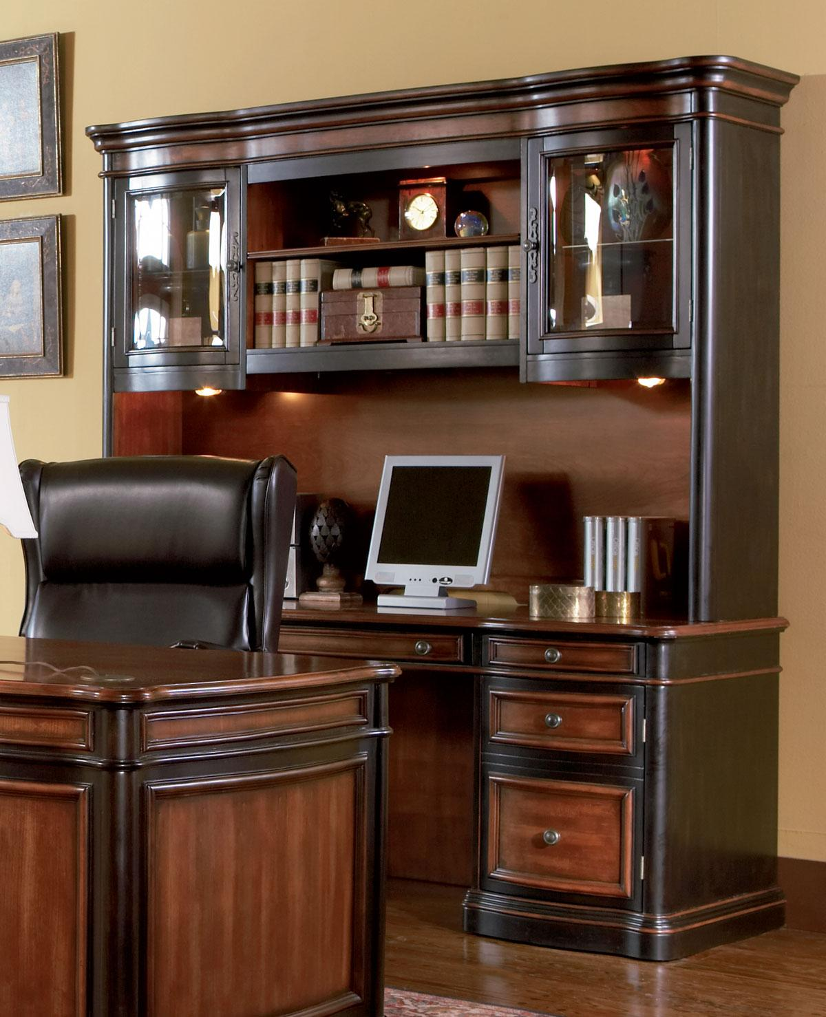 Bedroom Credenza: Coaster Pergola Grand Style Home Office Credenza & Hutch
