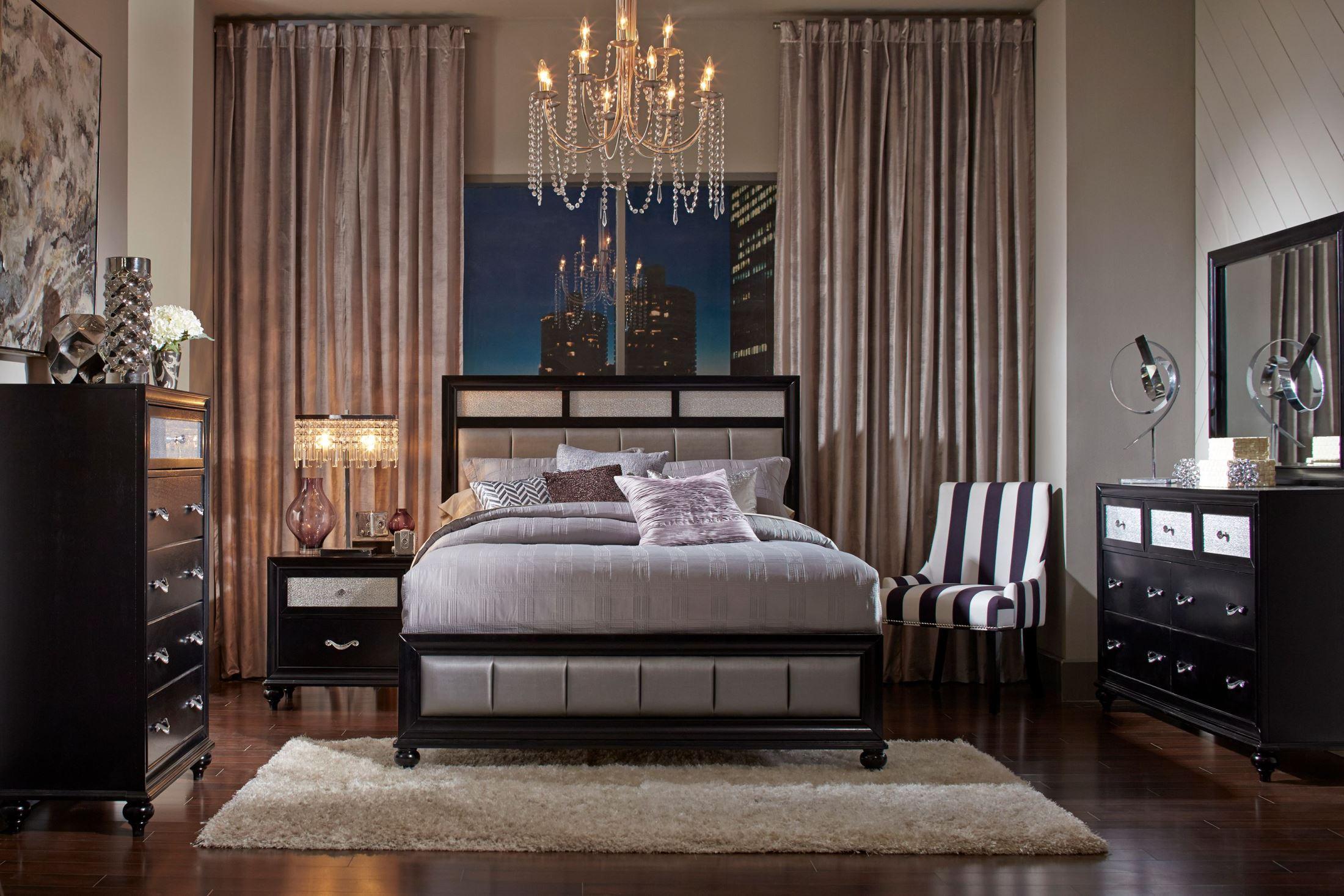 Barzini Black Platform Bedroom Set