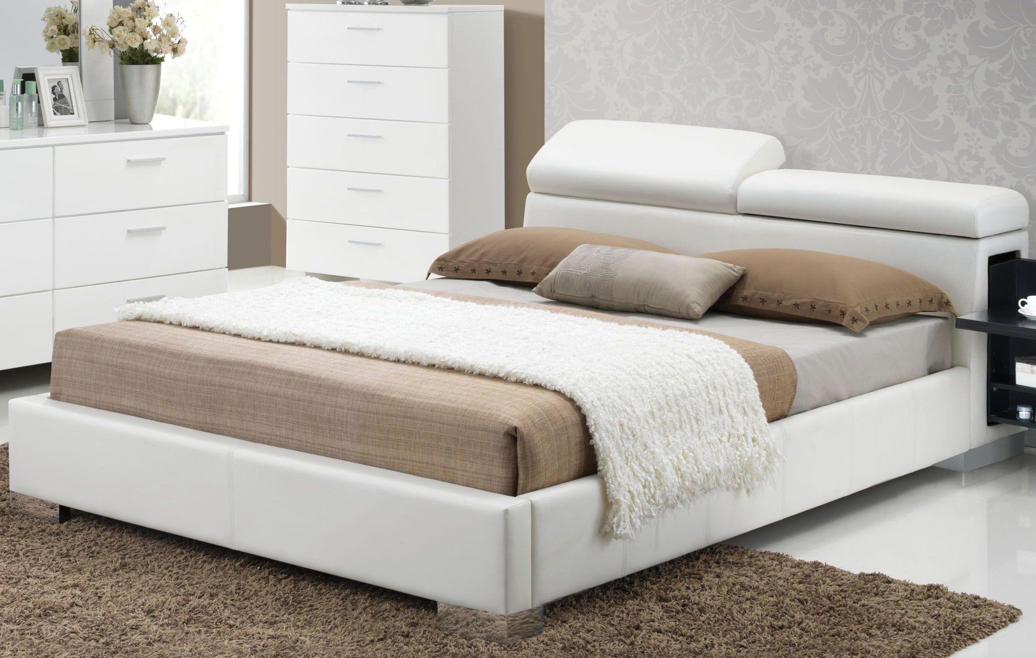 Picture of: Manjot White Cal King Hidden Storage Platform Bed 1stopbedrooms
