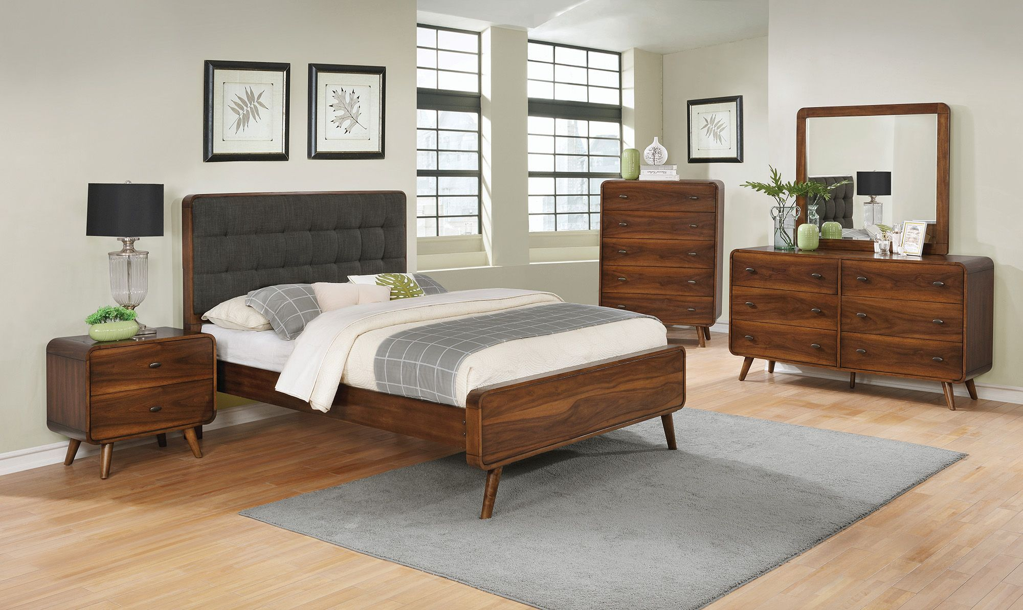 Robyn Dark Walnut Panel Bedroom Set