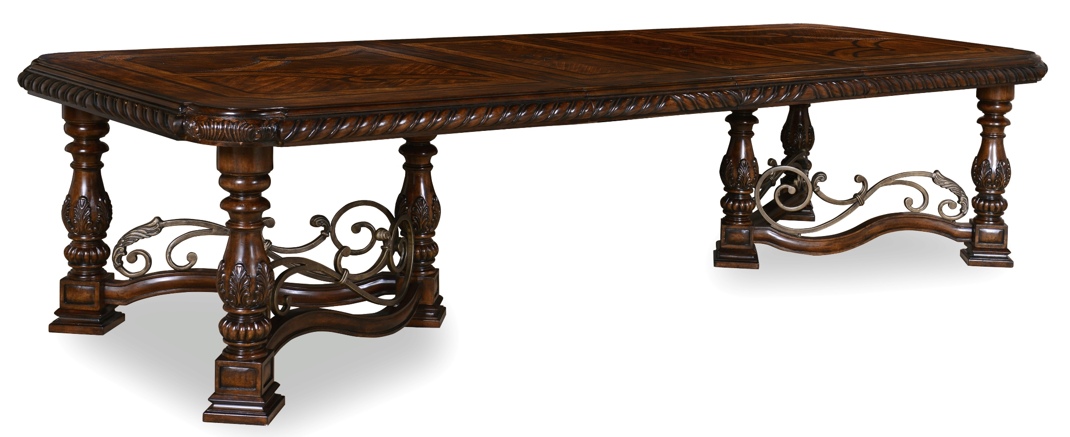 a r t valencia trestle extendable dining table valencia collection 4 reviews. Black Bedroom Furniture Sets. Home Design Ideas