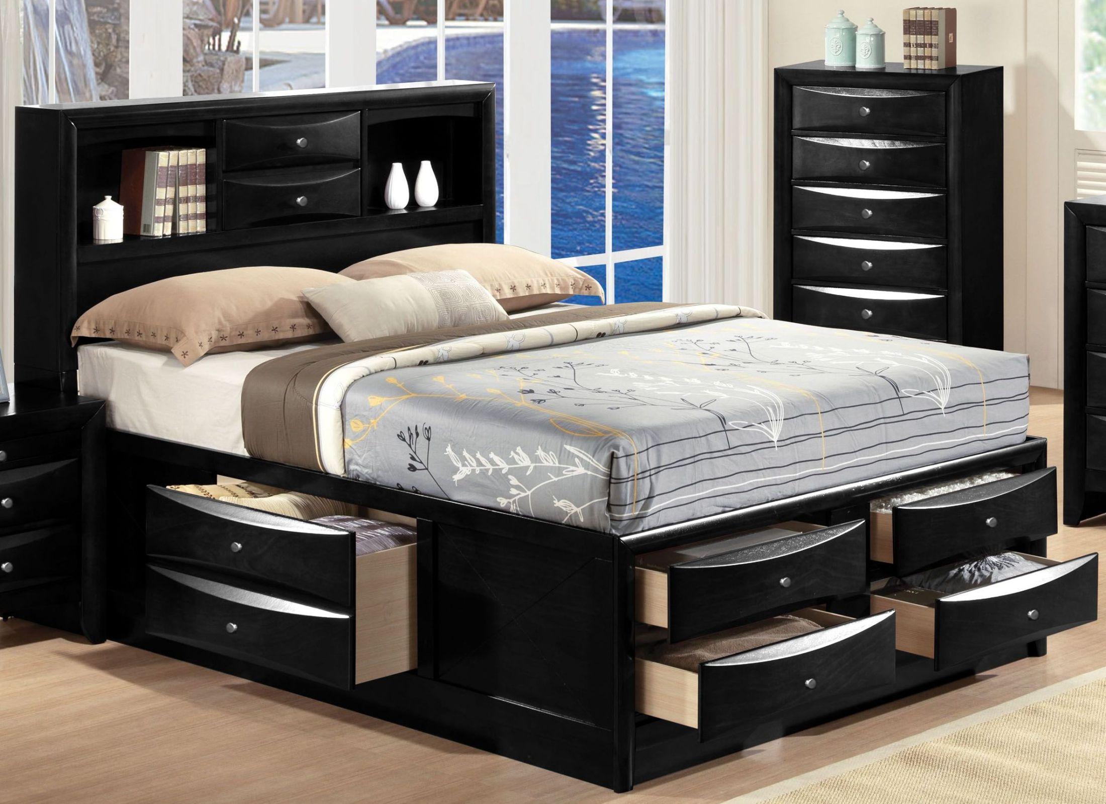 Image of: Ireland Black Full Bookcase Storage Bed 1stopbedrooms