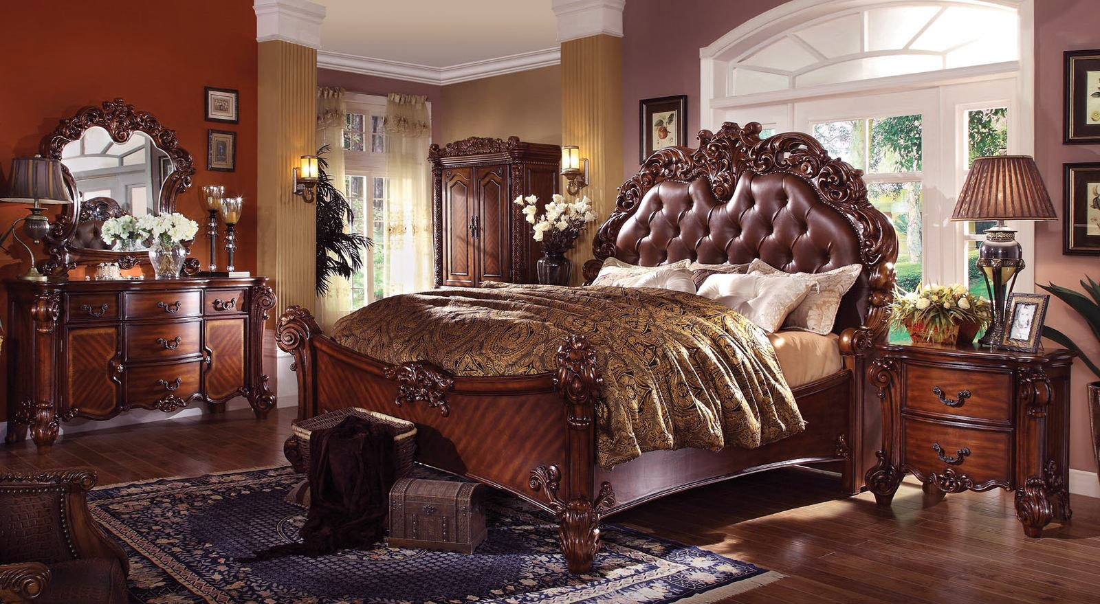 Acme Vendome Panel Bedroom Set with Button Tufted Headboard in ...
