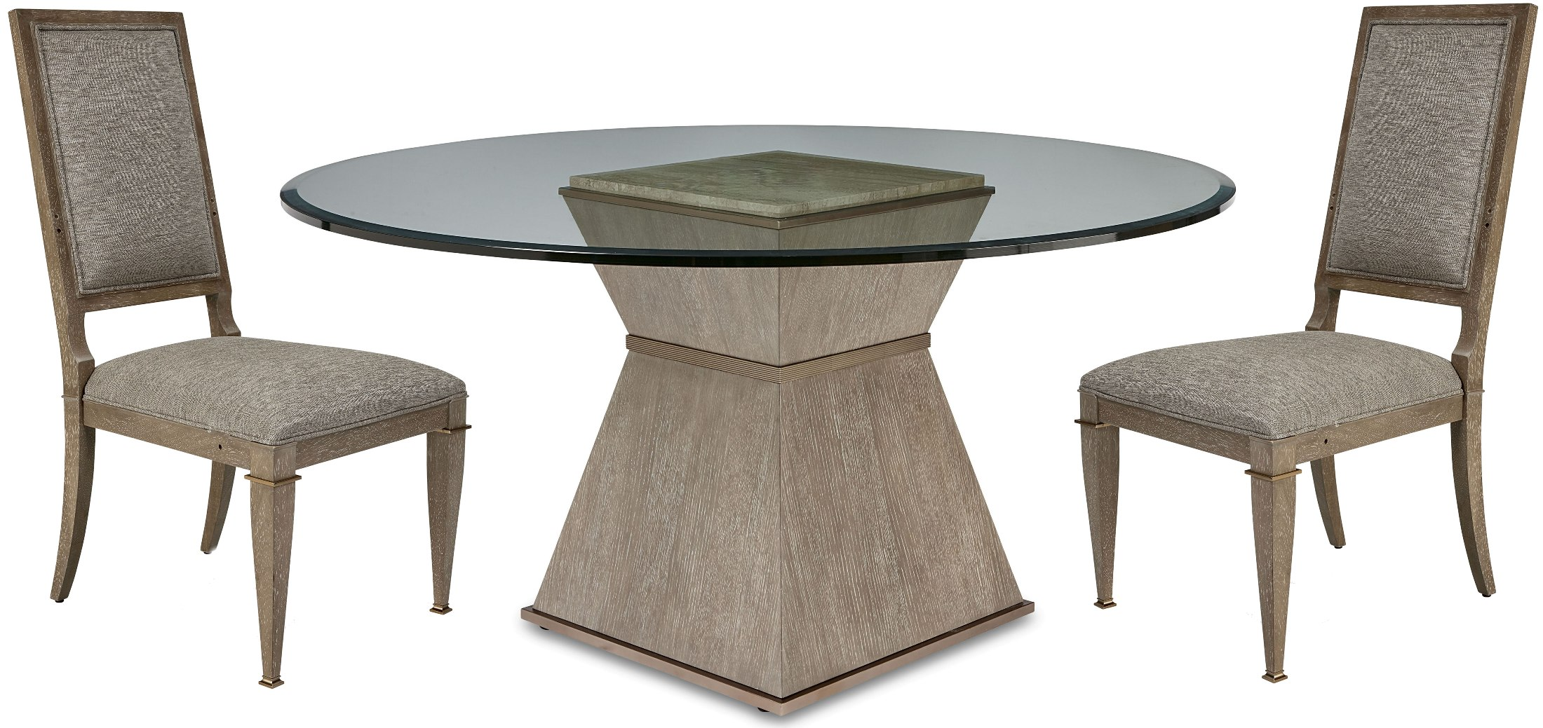 Cityscapes Stone Han 60 Round Dining Room Setmedia Image
