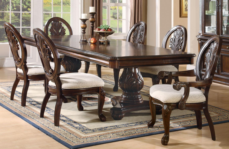 Tabitha Pedestal Dining Room Table, Pedestal Dining Room Table