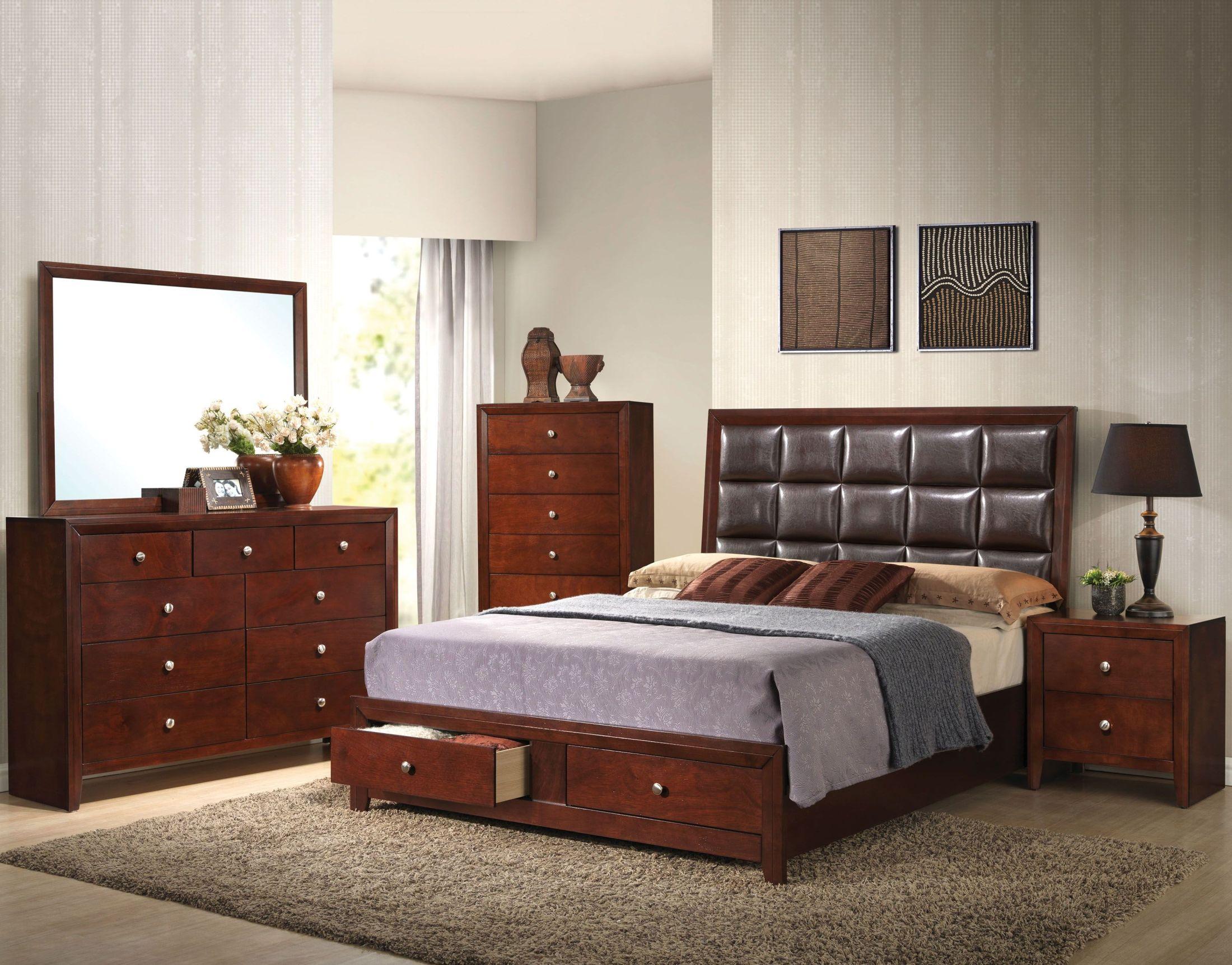 Furniture Goleta 5 Piece Modern Black Bedroom Set W Queen Bed Dresser Mirror Nightstands Home Garden Mbln Org