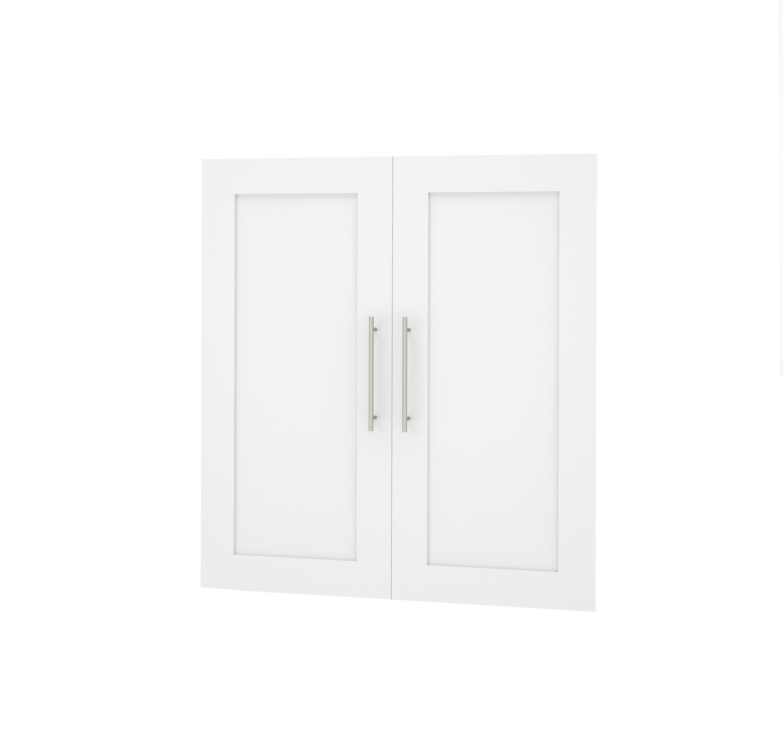 Bestar Pure White 2 Door Set For 36 Quot Storage Unit Pur