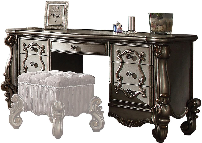 ACME Versailles Antique Platinum Vanity Desk