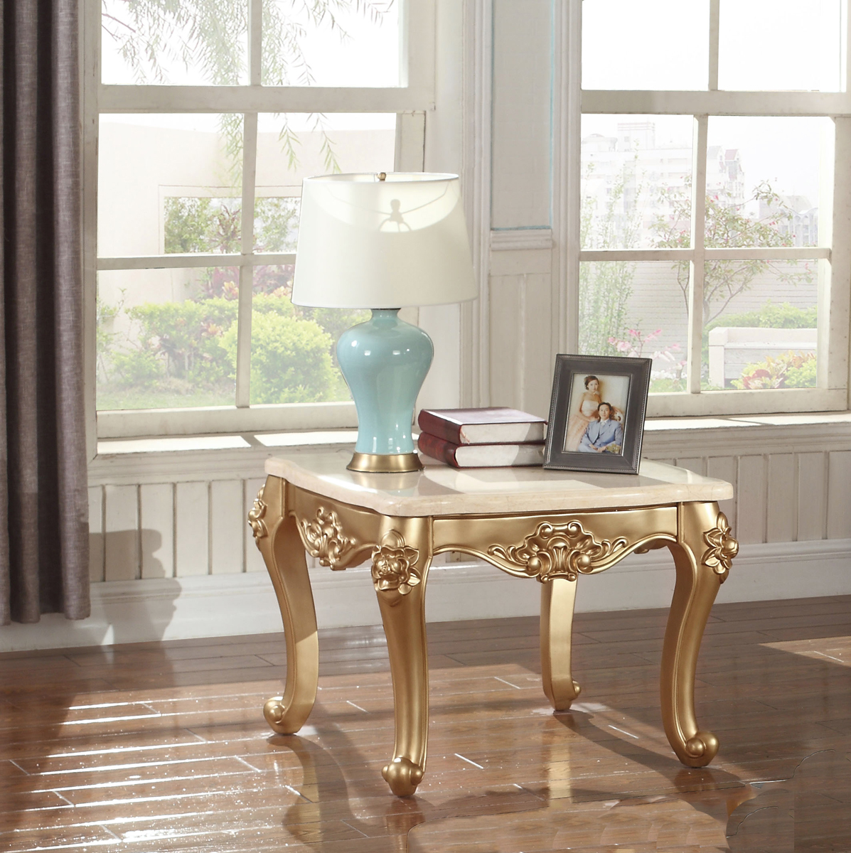 Ashley Furniture Meridian Idaho: Meridian Meridian Bennito End Table In Gold 276-E