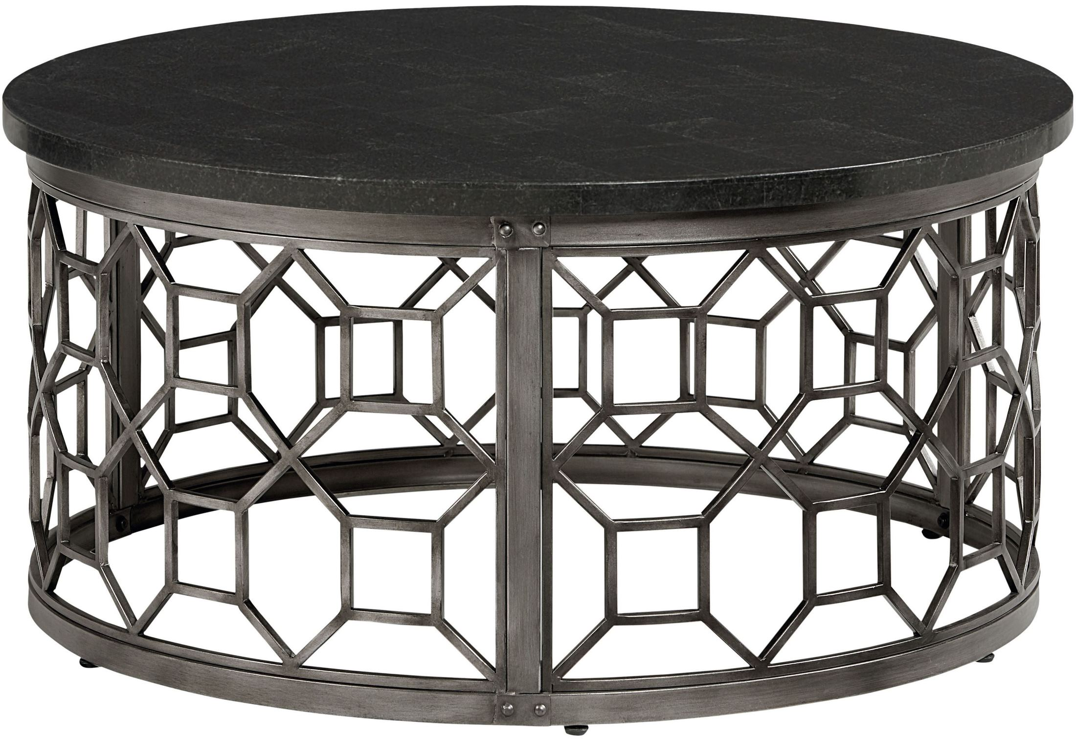 standard furniture equinox round stone top cocktail table equinox collection 4 reviews. Black Bedroom Furniture Sets. Home Design Ideas