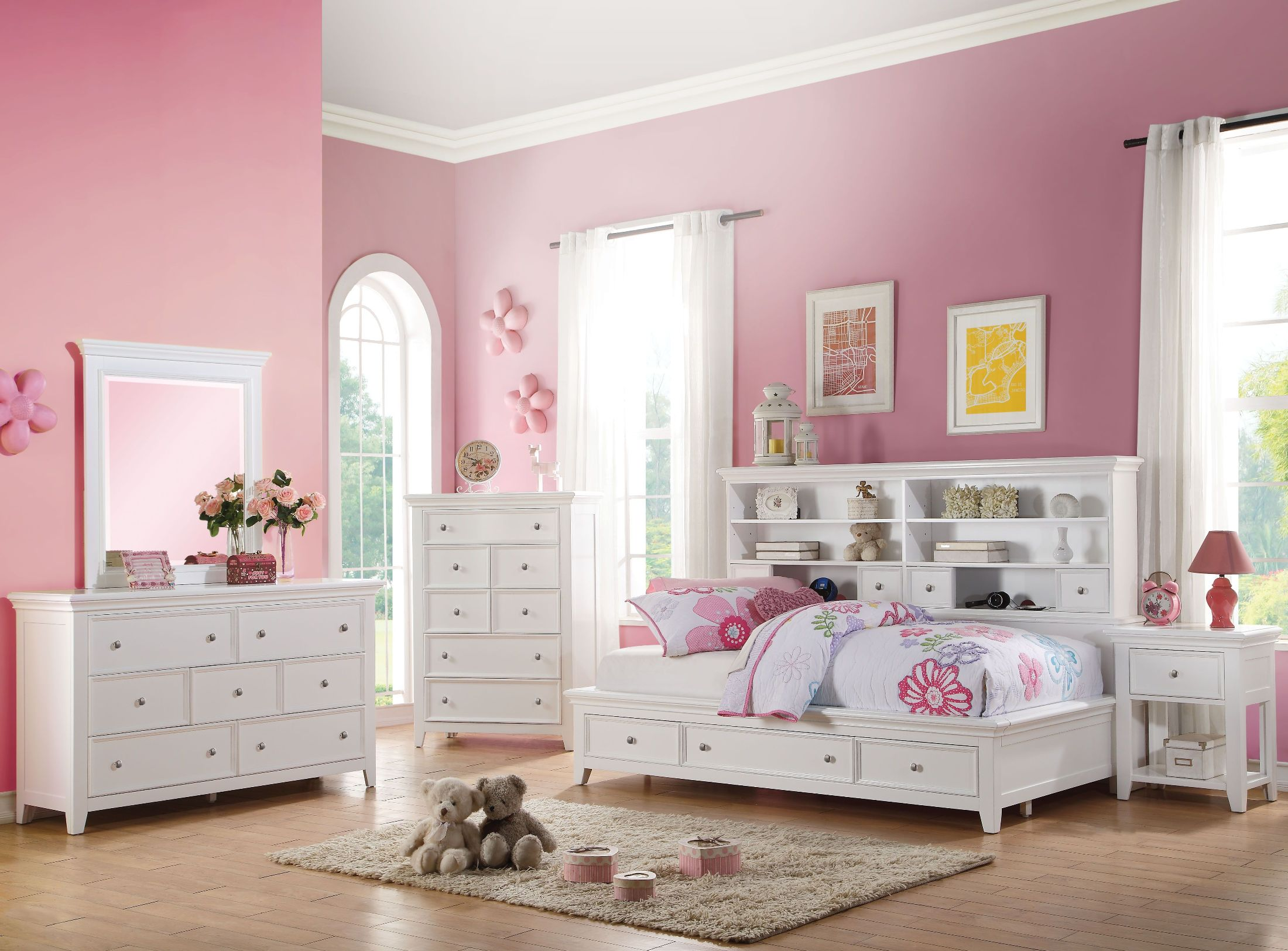 Acme Lacey White Day Storage Youth Bedroom Set Lacey