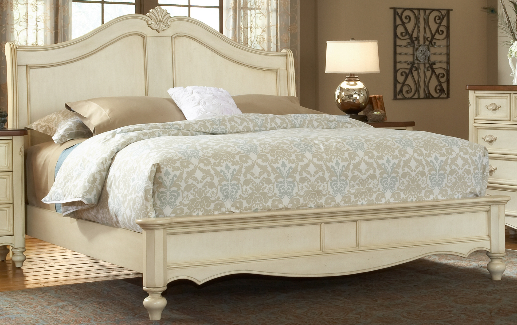 American Woodcrafters Chateau King Sleigh Bed Chateau