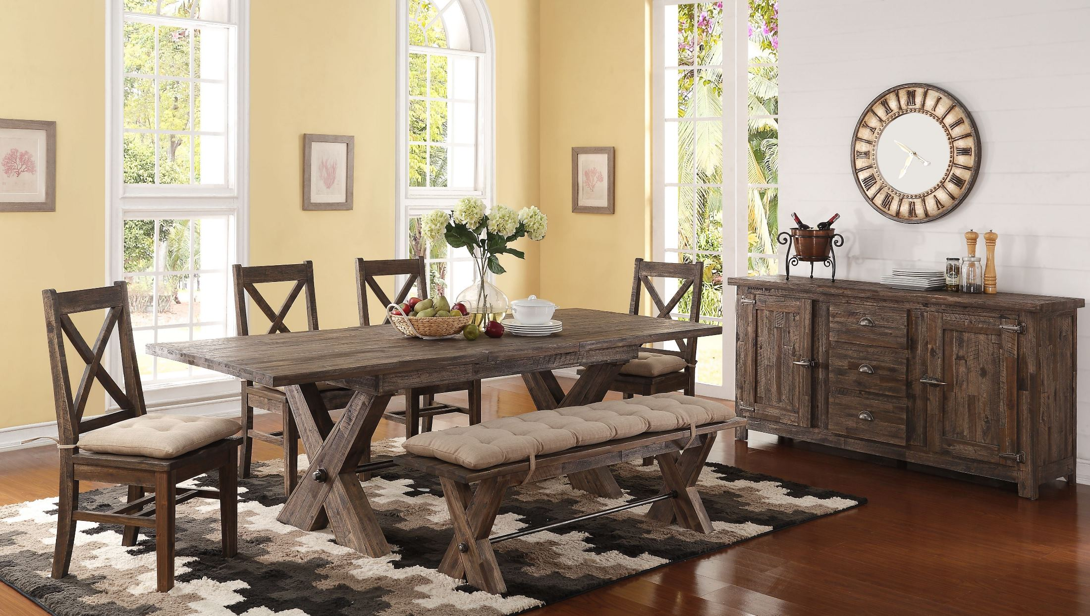 Tuscany Park Vintage Grey Extendable Dining Room Set - 1StopBedrooms.