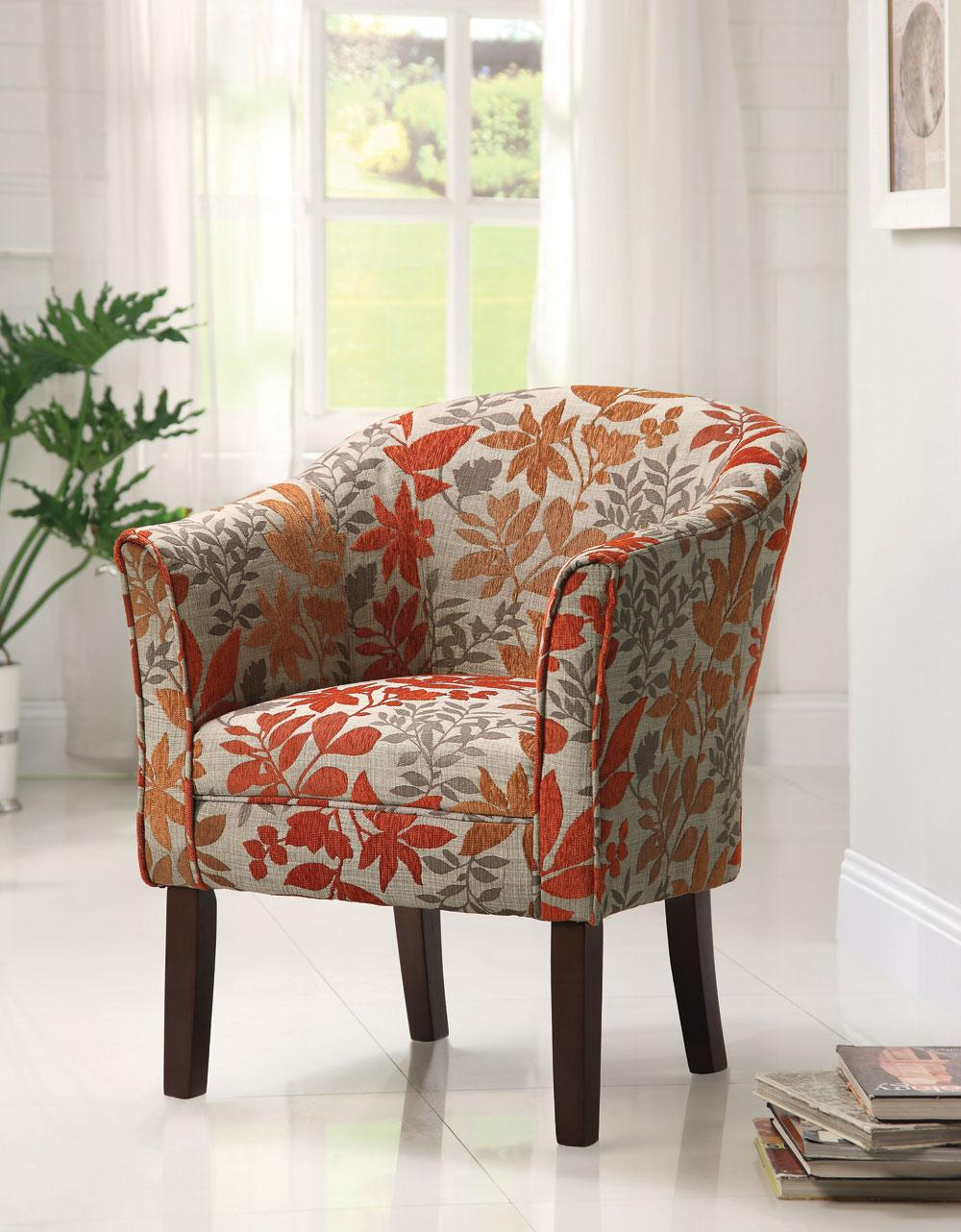 Coaster 460407 Red Accent Chair - Accent Collection: 4 Reviews ...