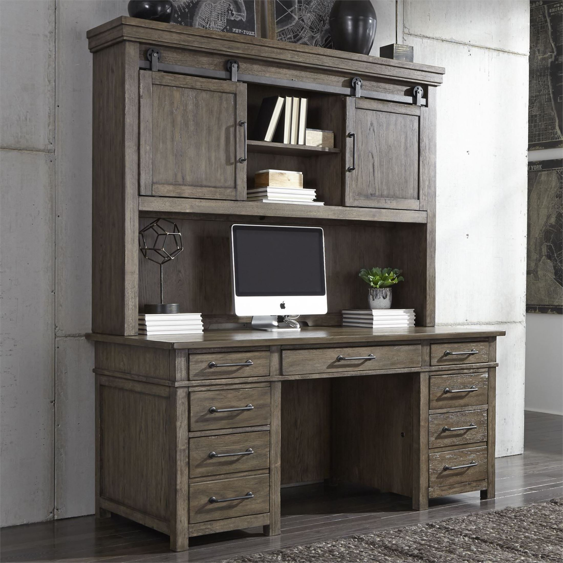 Liberty Sonoma Road Weather Beaten Bark Credenza With