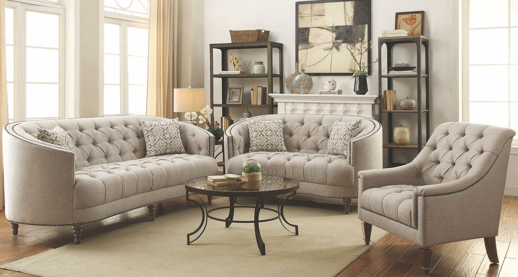 Avonlea Stone Grey Living Room Set - 1StopBedrooms.