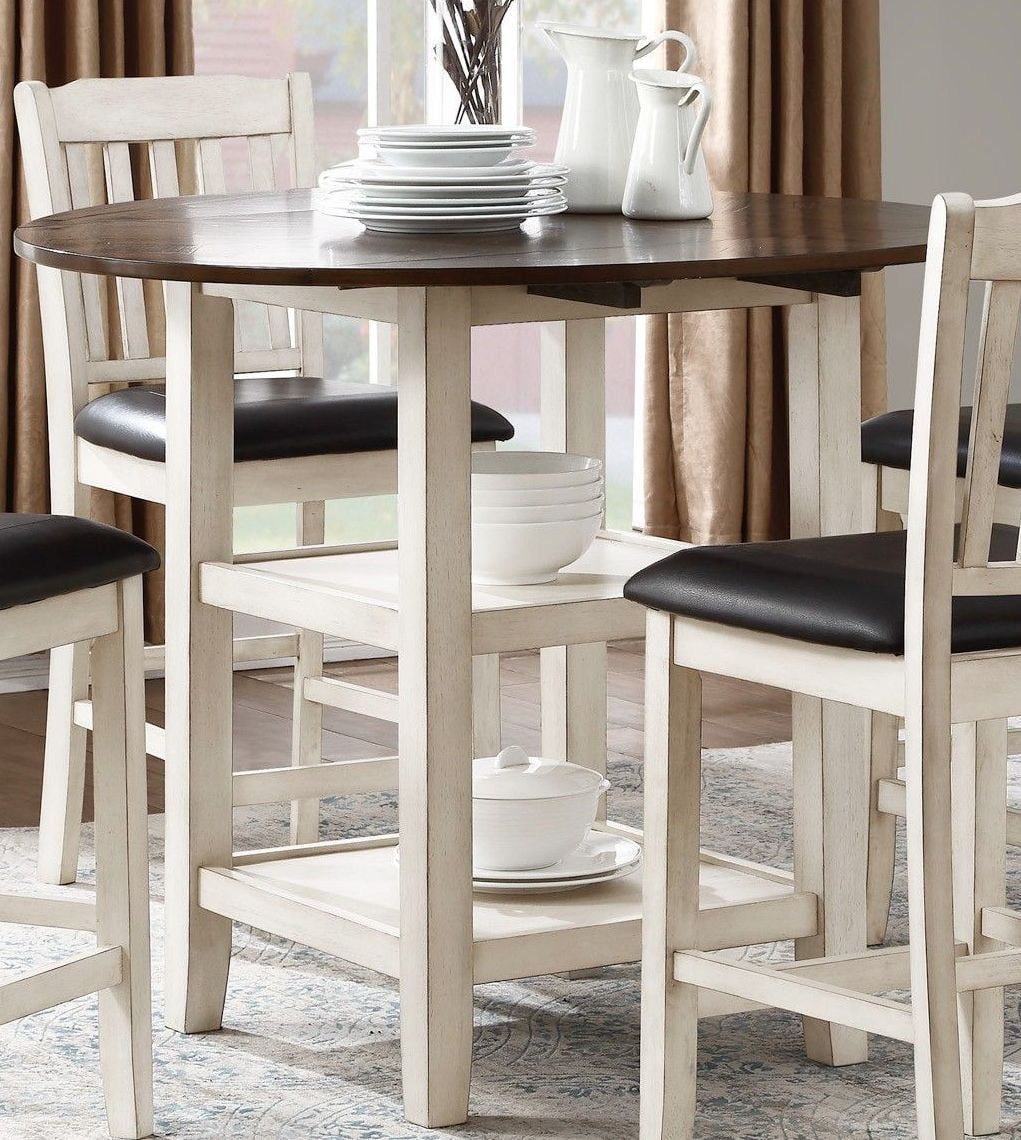 Counter Height Dining Table For 8: Homelegance Kiwi Two Tone Drop Leaf Counter Height Dining