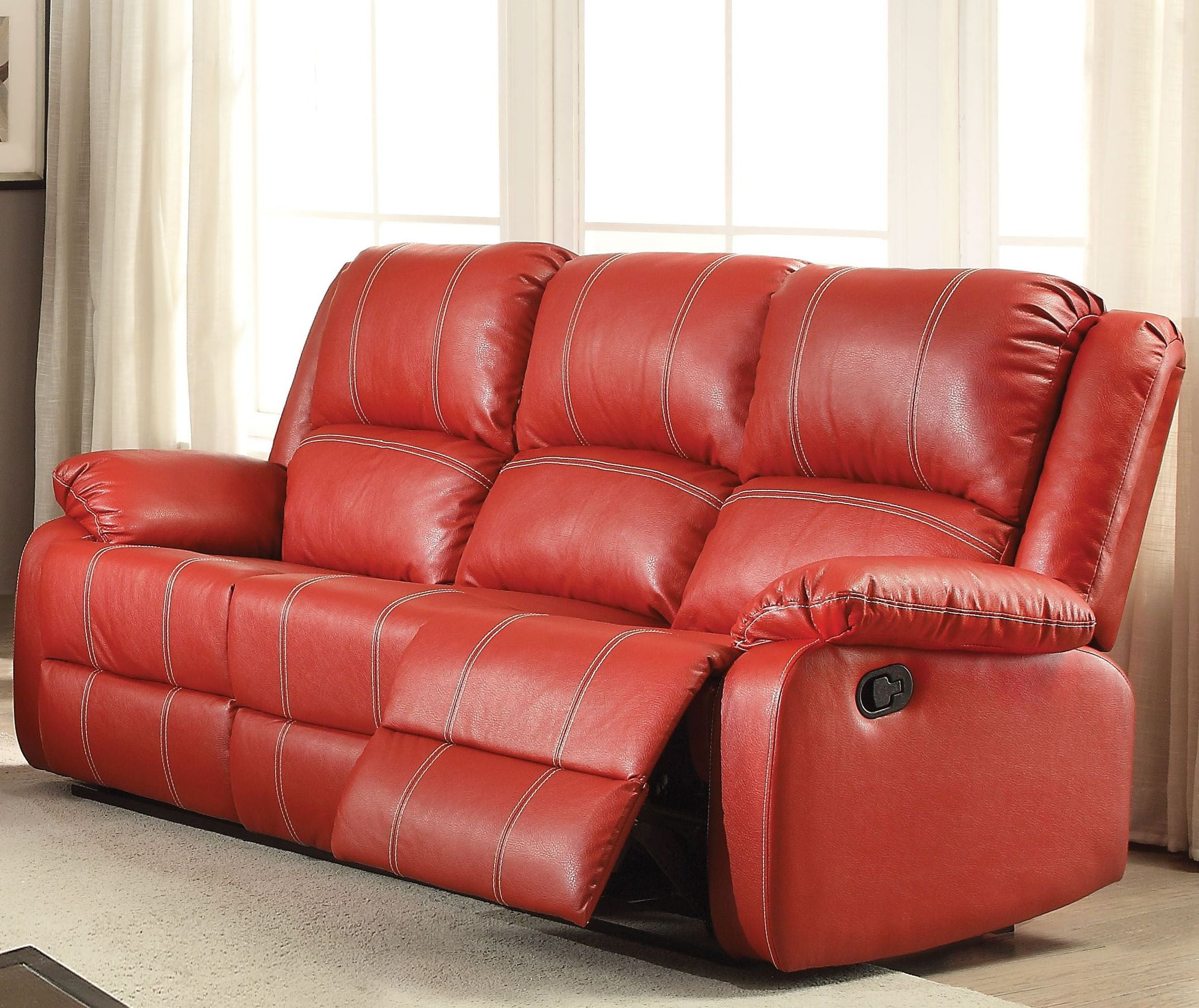 Zuriel Red Reclining Sofa