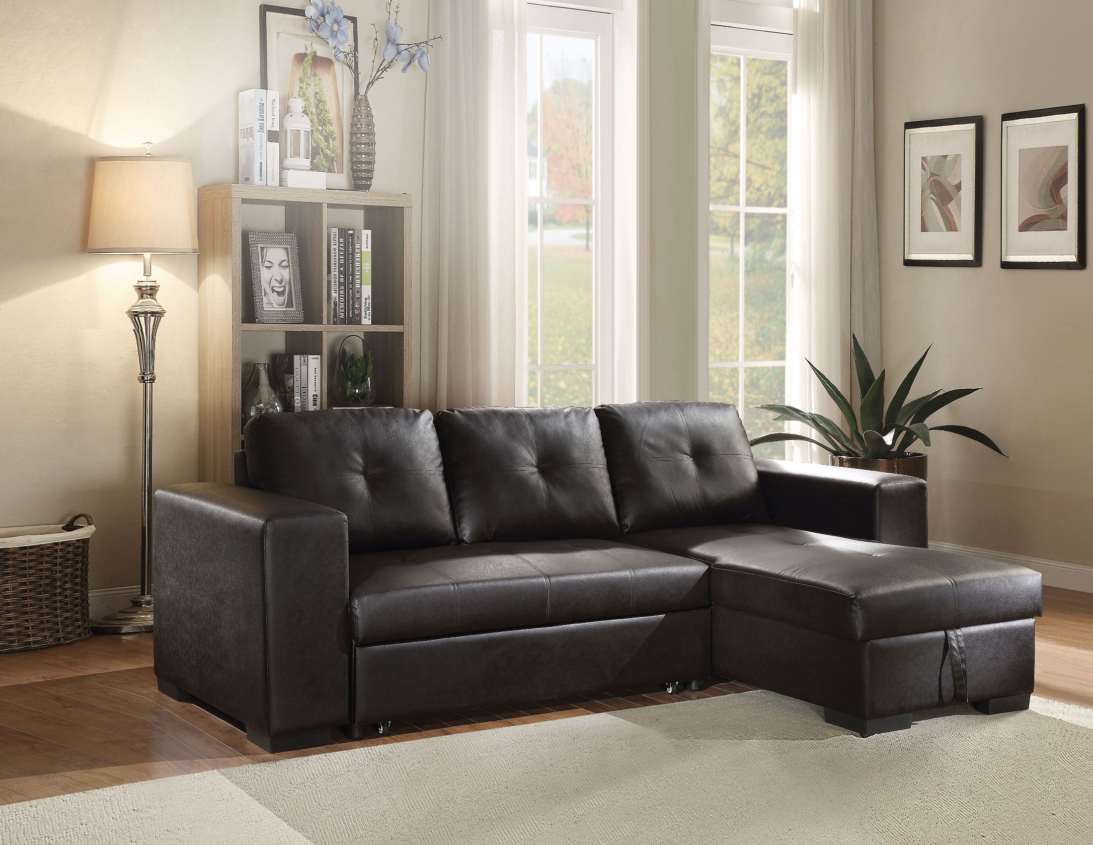 Picture of: Lloyd Black Sectional Sleeper Sofa 1stopbedrooms