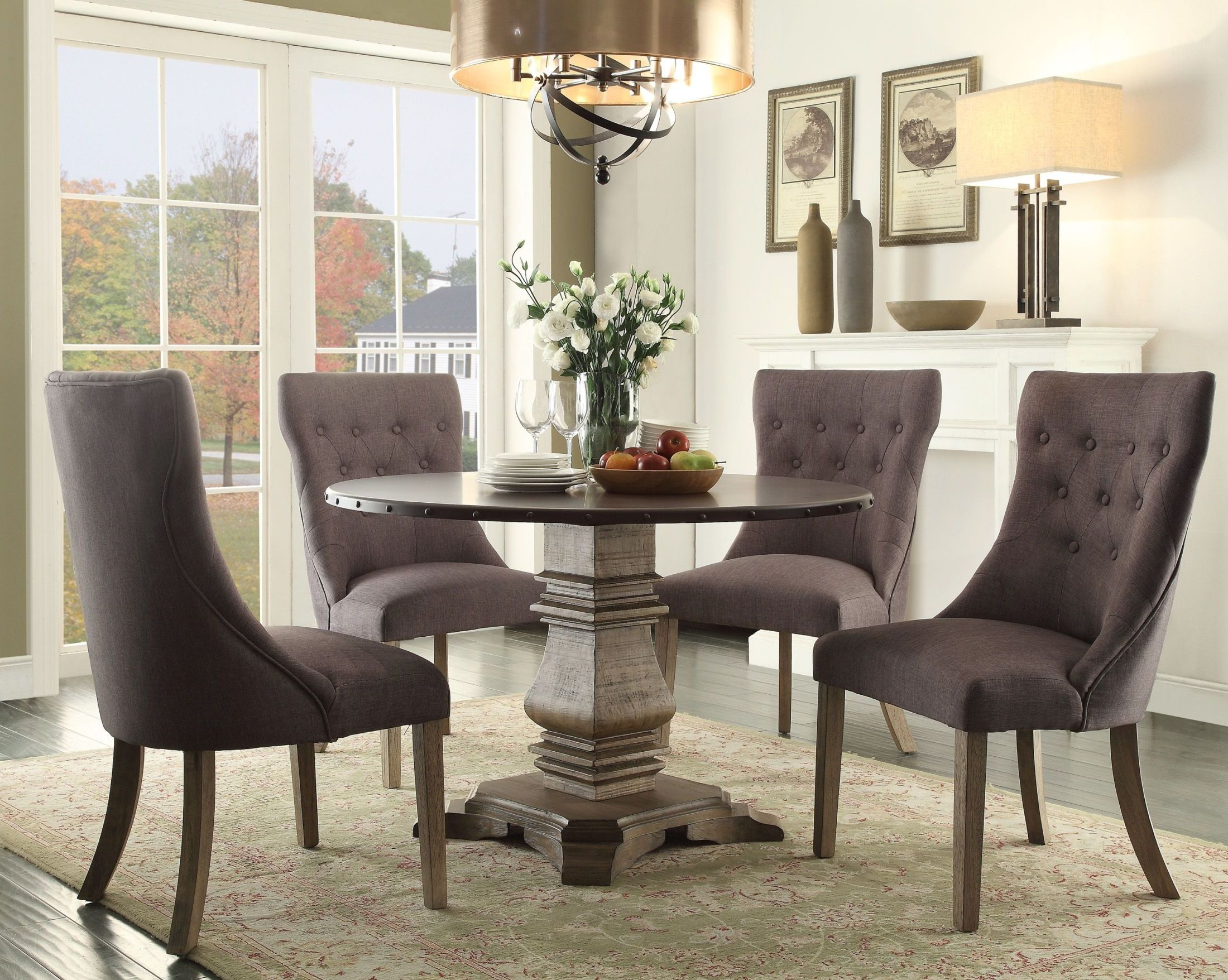 Anna Claire Brown Round Dining Room SetMedia Image