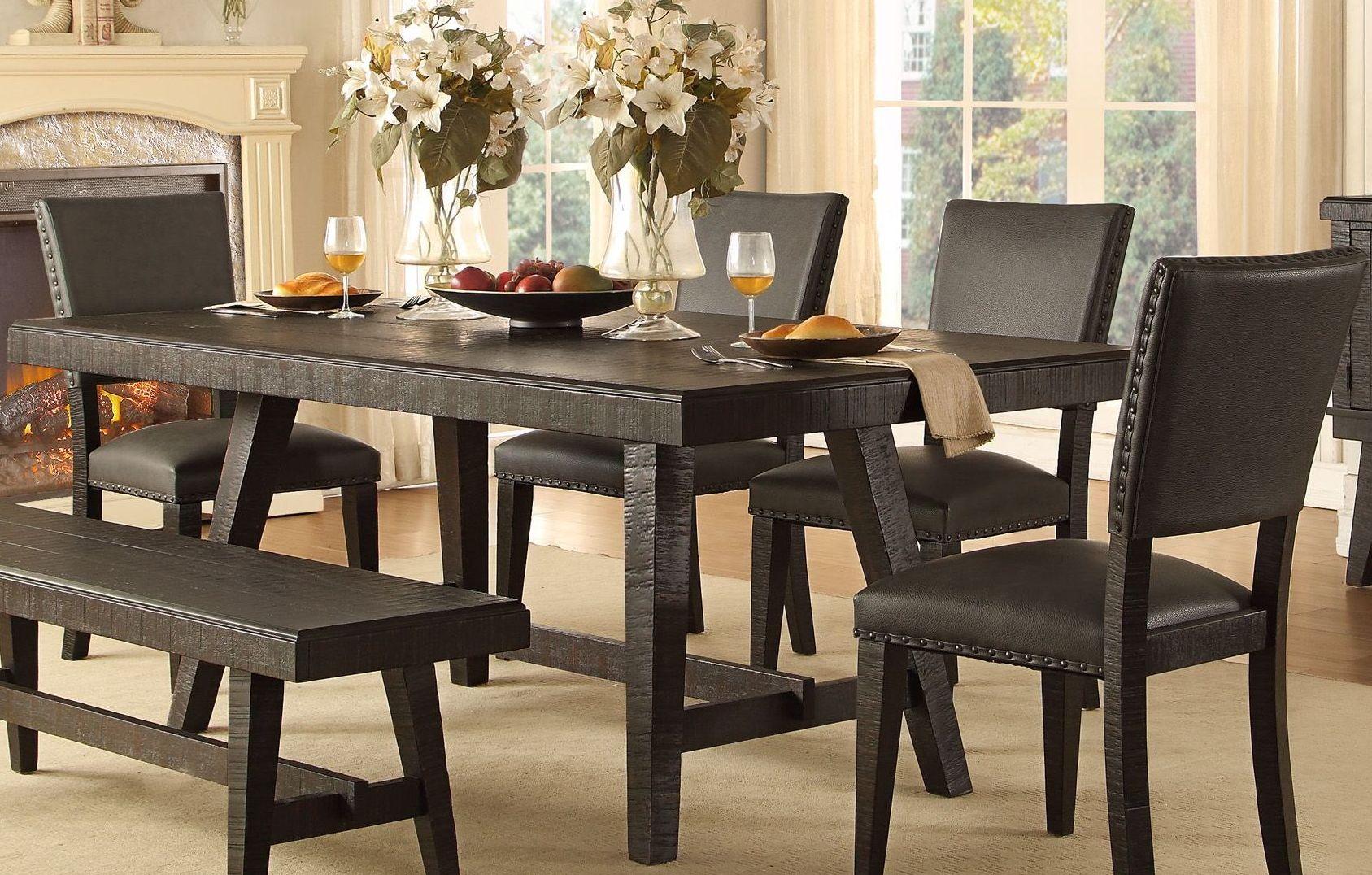 Fenwick dark grey dining table