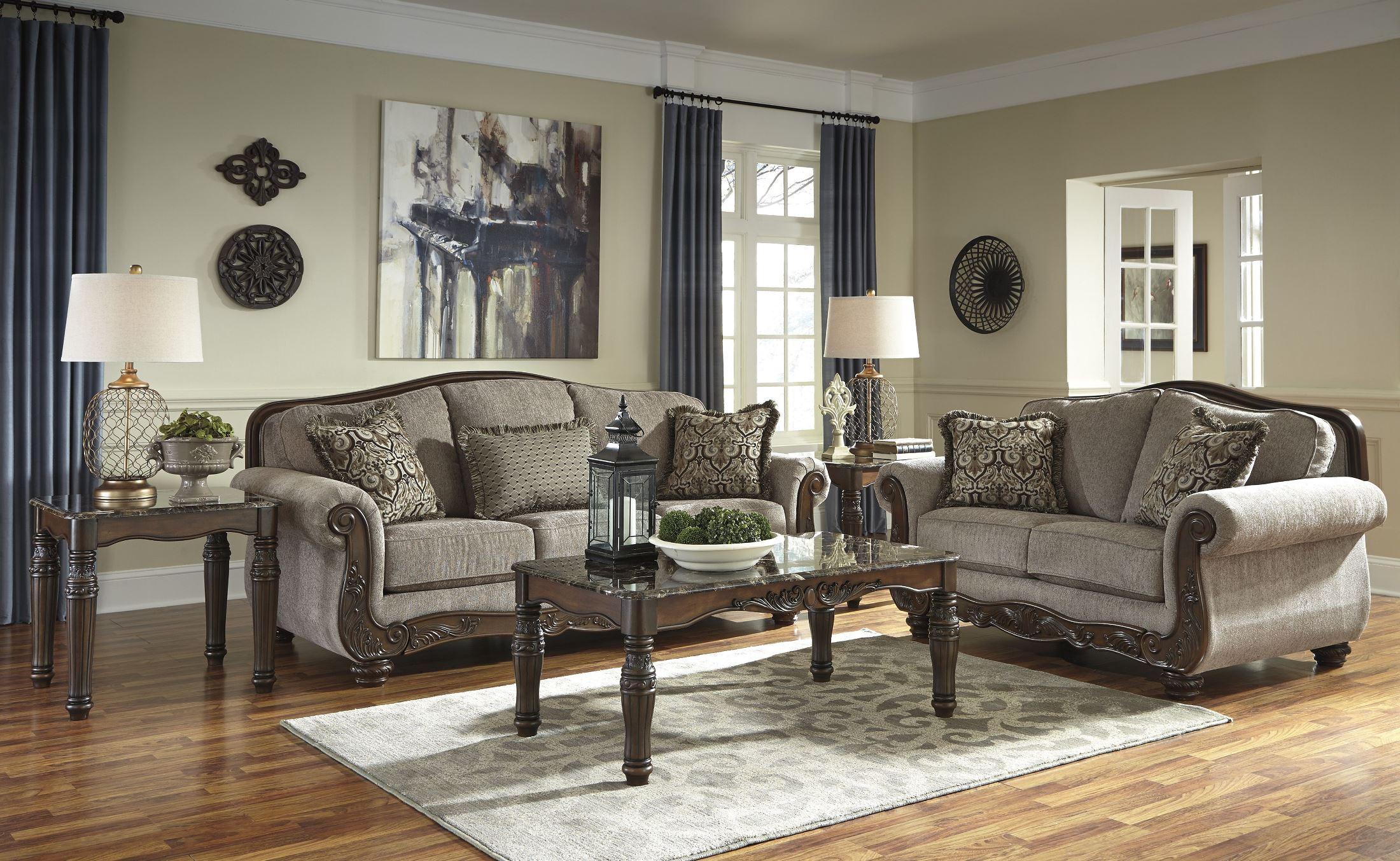 Cecilyn Cocoa Living Room SetMedia Image