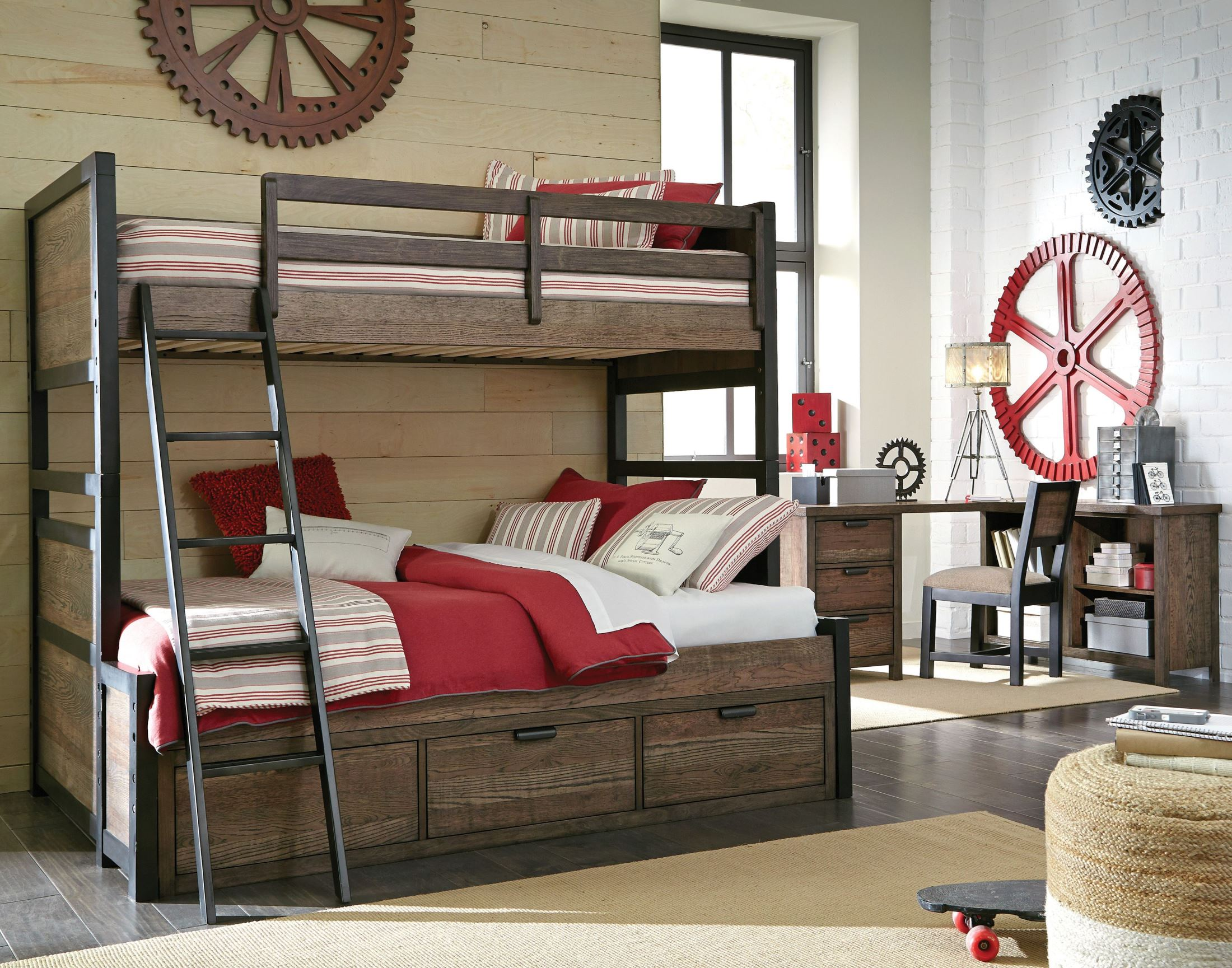 Legacy Classic Kids Fulton County Tawny Brown Bunk Bedroom