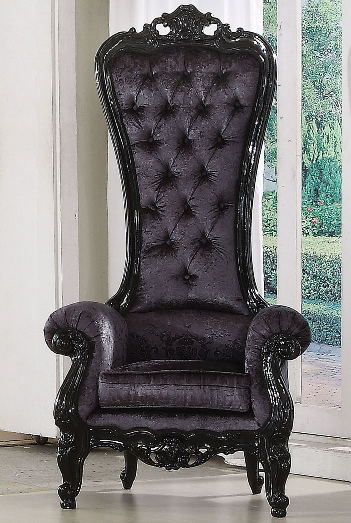 Acme Raven Black Frame Accent Chair Raven Collection 8