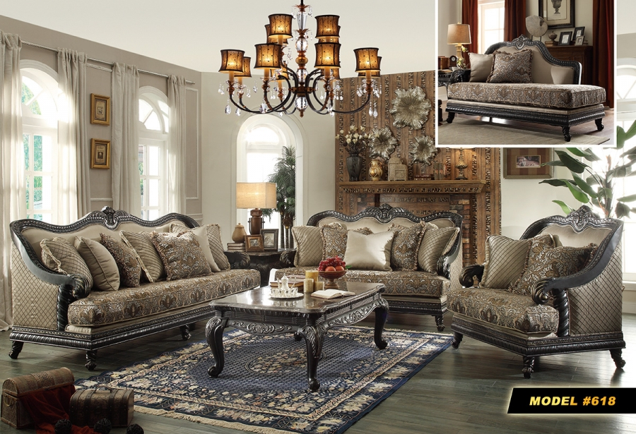 Meridian 618 2-Piece Living Room Set