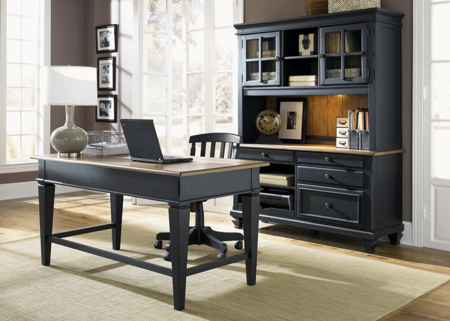 Bungalow II Black Jr Executive Home Office SetMedia Image