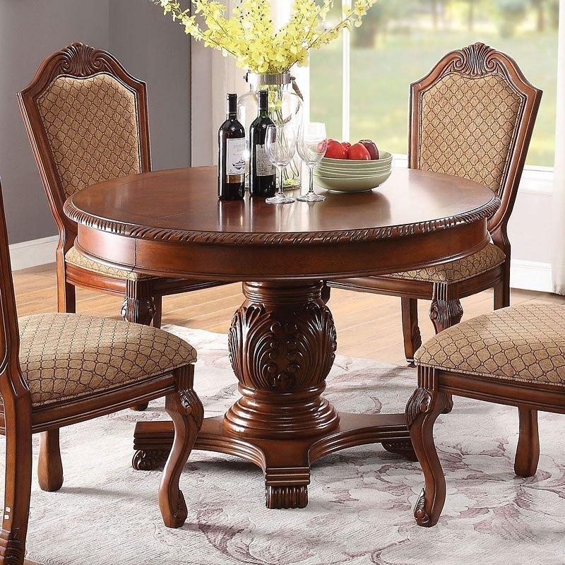 ACME Chateau De Ville Round Dining Table (Cherry