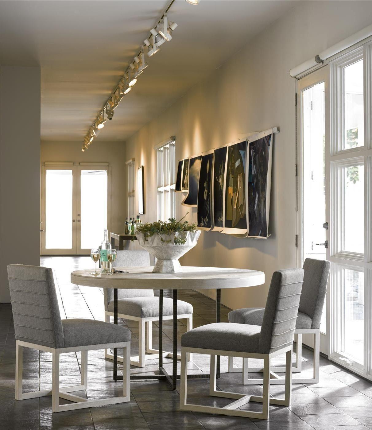 Universal Modern Robards Brown Round Dining Room Set