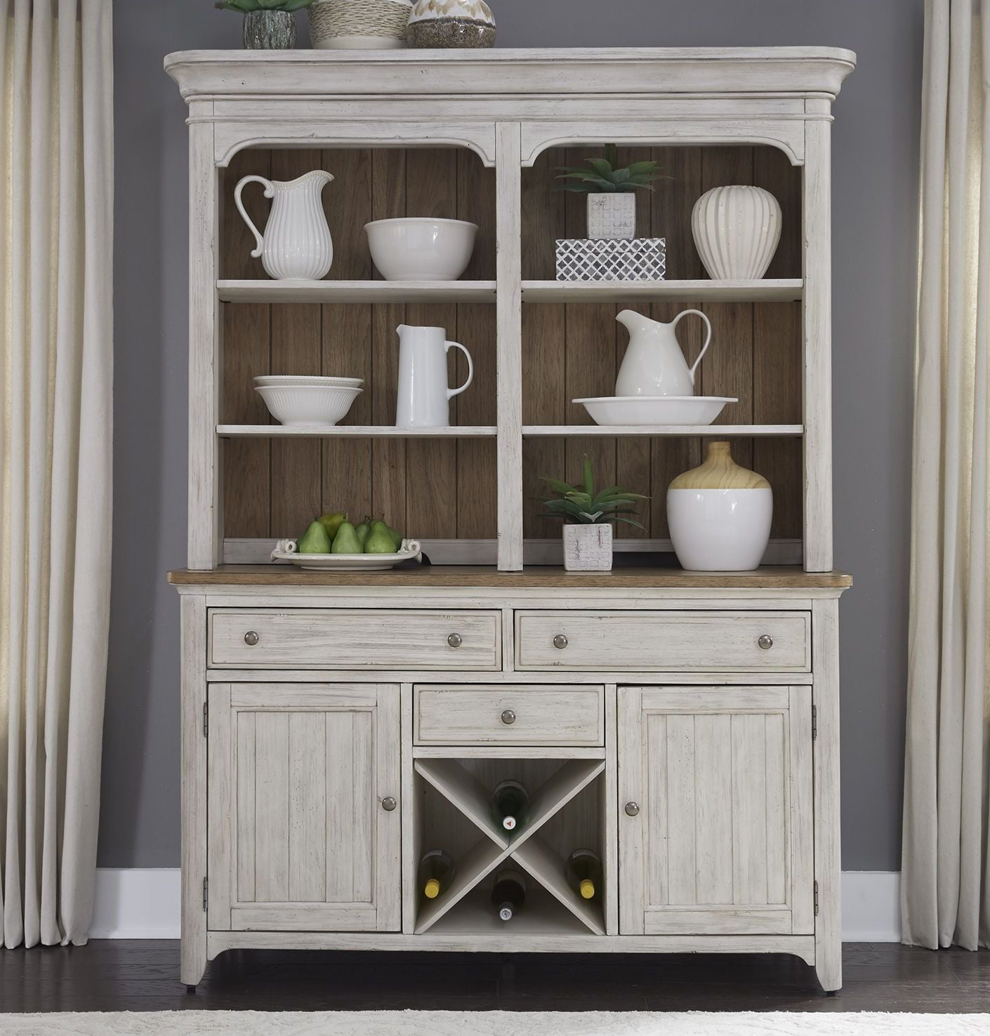 Liberty Farmhouse Reimagined Antique White Buffet With