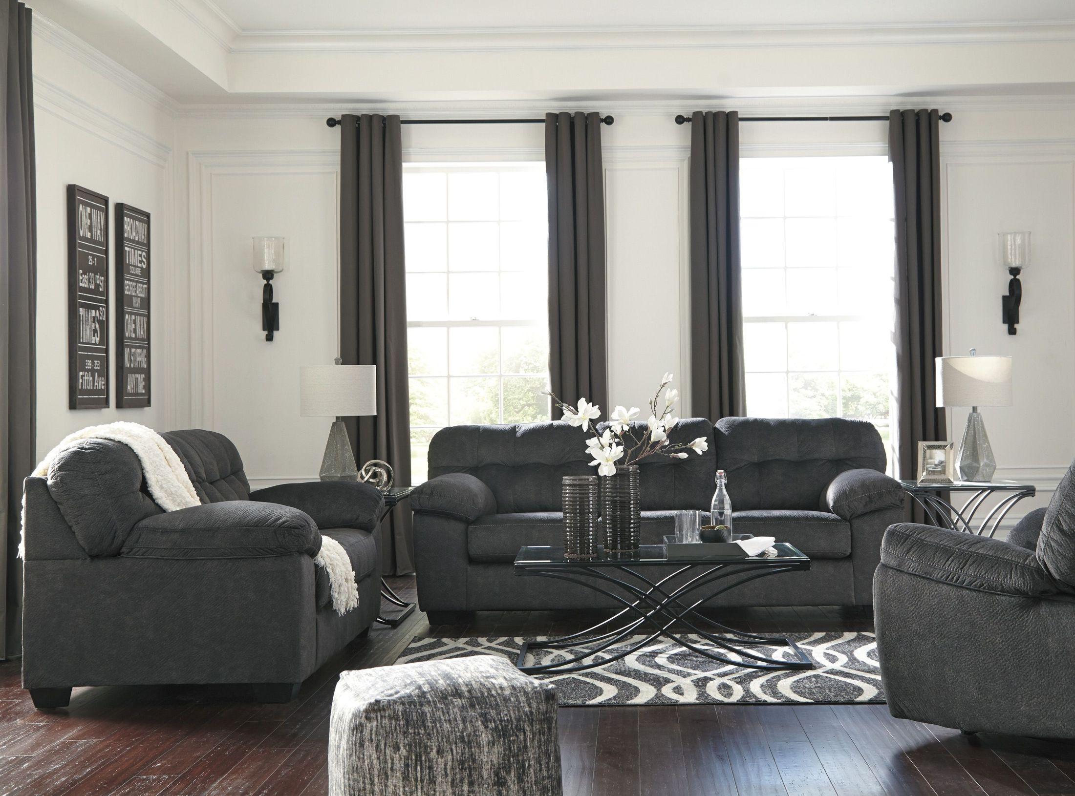 Signature Design By Ashley Accrington Granite Living Room Set