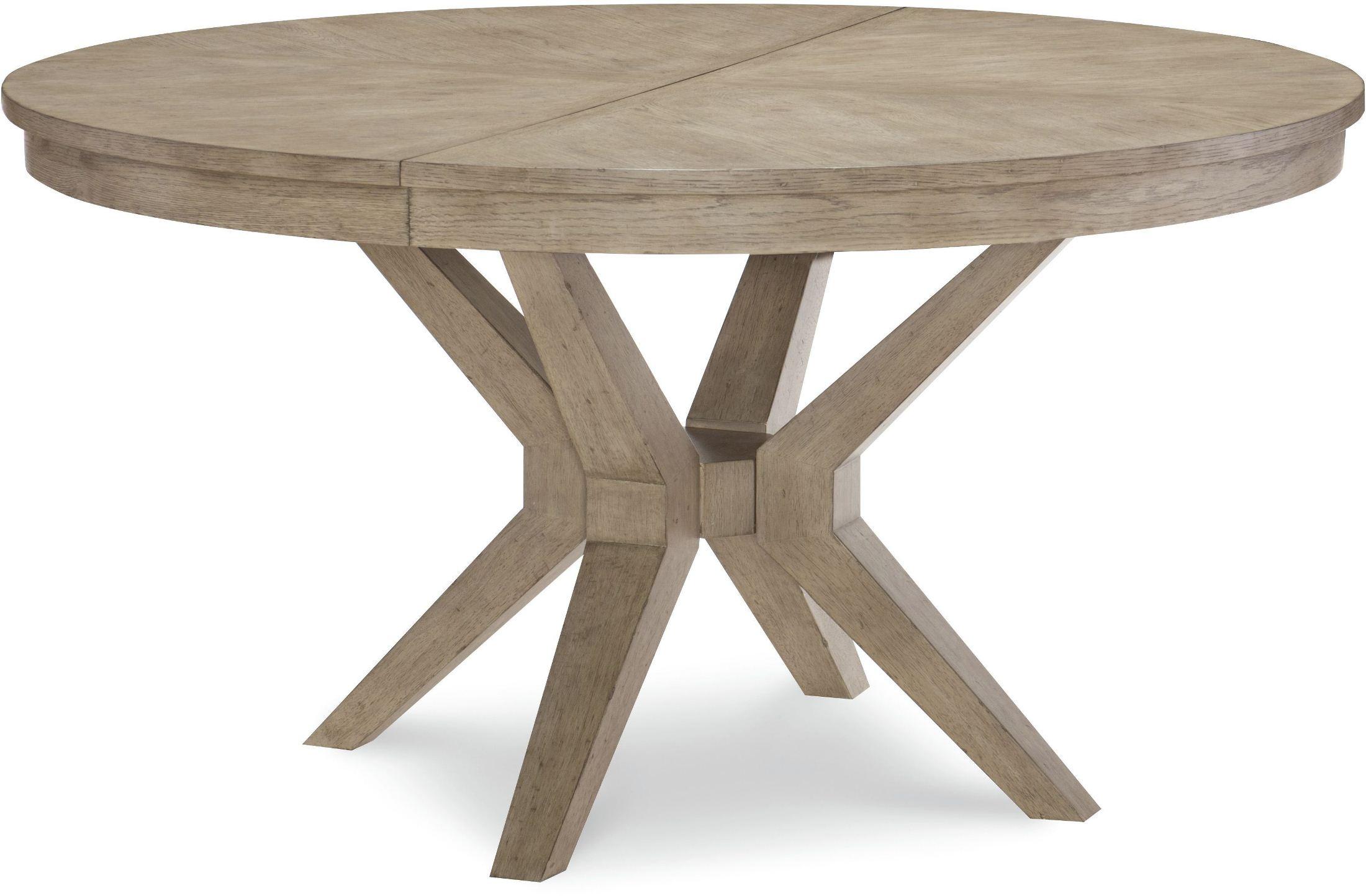 Bridgewater Weathered Oak Round Extendable Leg Dining Table