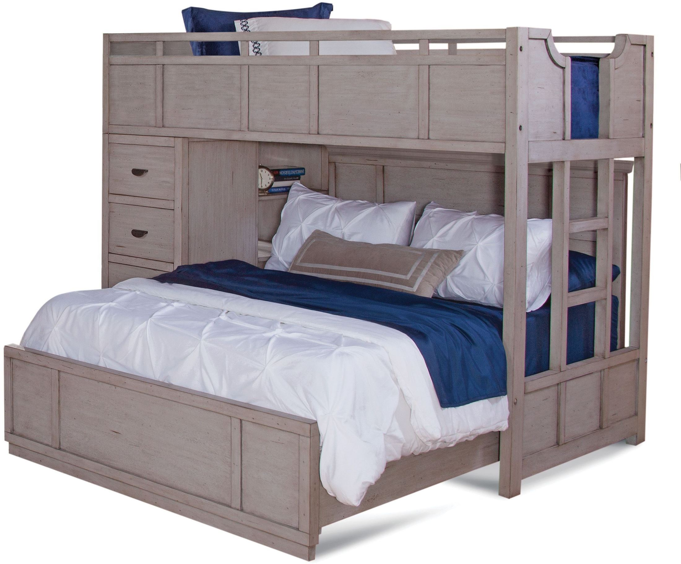 Twin Loft Bed.Provo Driftwood Patina Twin Over Full Loft Bed