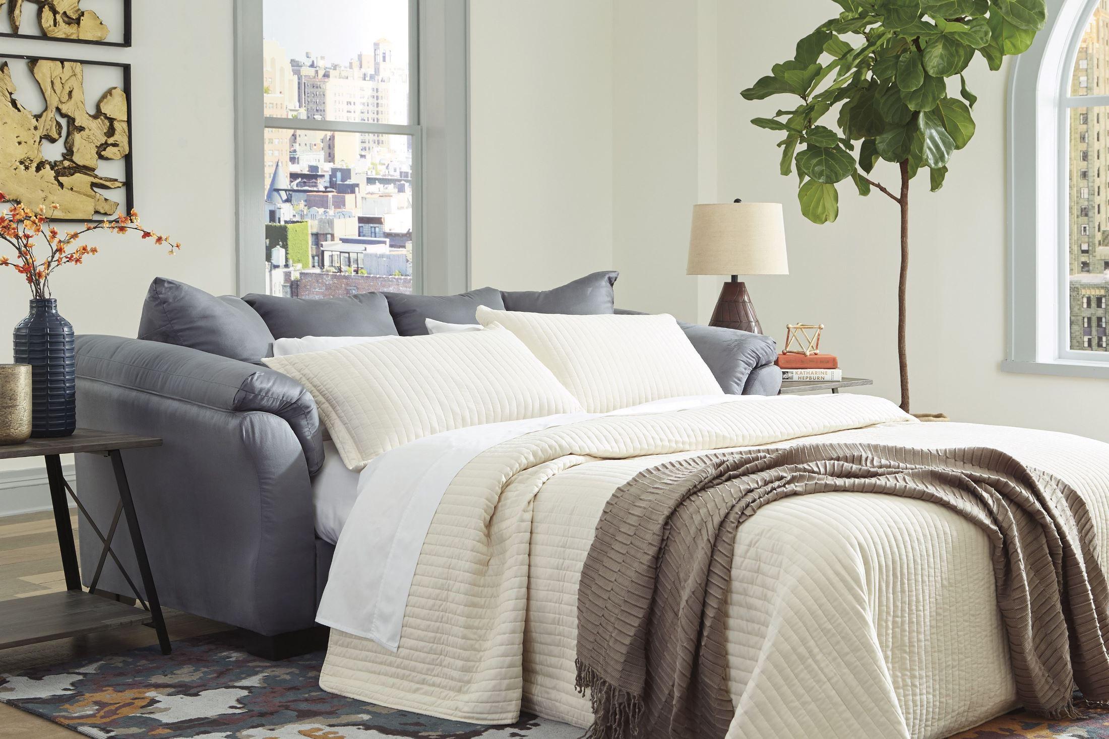 Darcy Steel Full Sofa Sleeper 1stopbedrooms