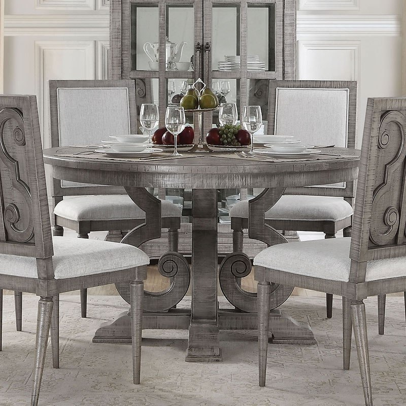 Artesia Round Dining Table 1stopbedrooms, Round Gray Dining Table
