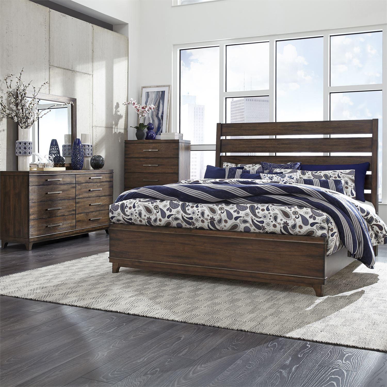 Liberty Ventura Blvd Bronze Spice Panel Bedroom Set