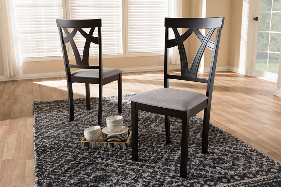 Modern Grey Fabric Dining Chairs: Baxton Studio Baxton Studio Sylvia Modern And Contemporary