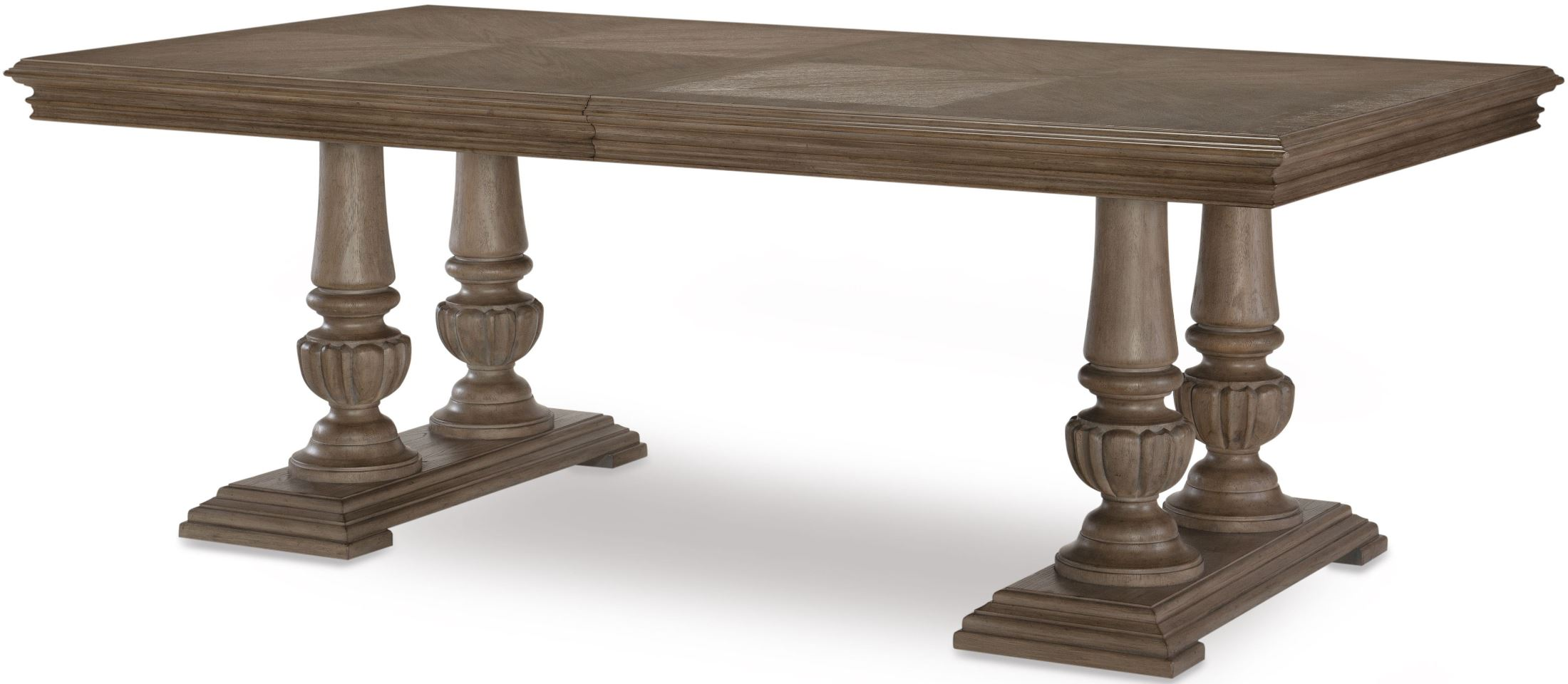 Manor House Cobblestone Rectangular Extendable Double Pedestal Dining Table