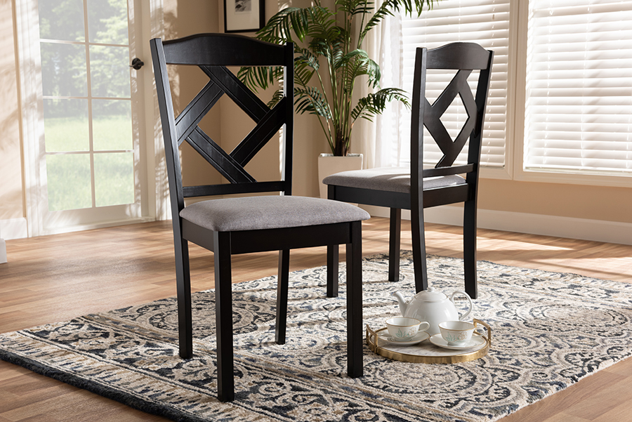 Modern Grey Fabric Dining Chairs: Baxton Studio Baxton Studio Ruth Modern And Contemporary